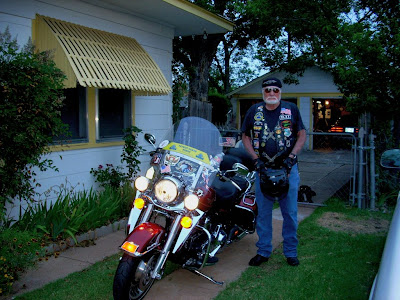 Dad aka Ted aka Frosty ready to roll Memorial Day 2013