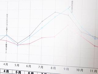 電気代のグラフの写真