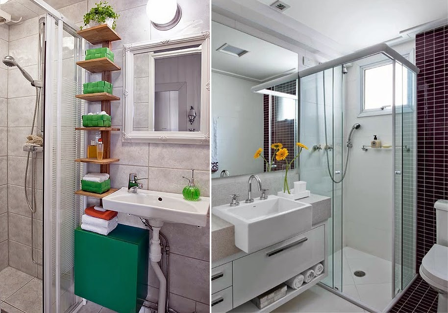 Ideas para ba os peque os y funcionales decoraci n del for Hogar decoracion y diseno