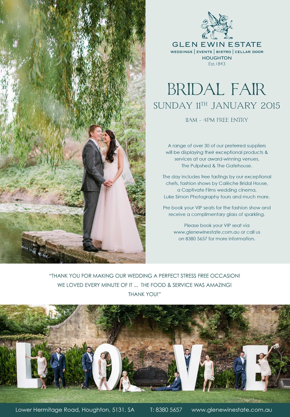 adelaide wedding fair glen ewin estate sail and swan wedding invitations