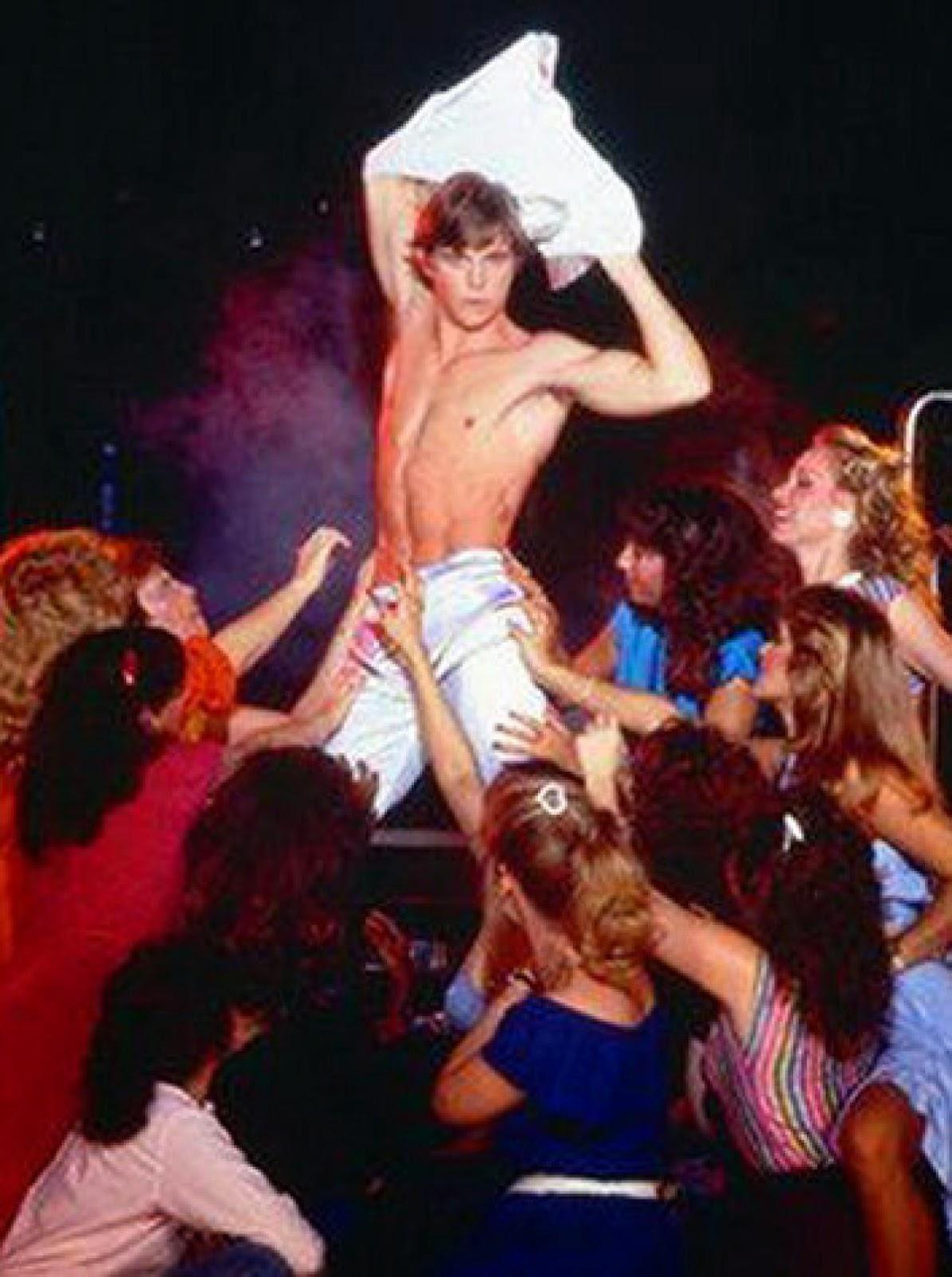 Girls in male stripper club