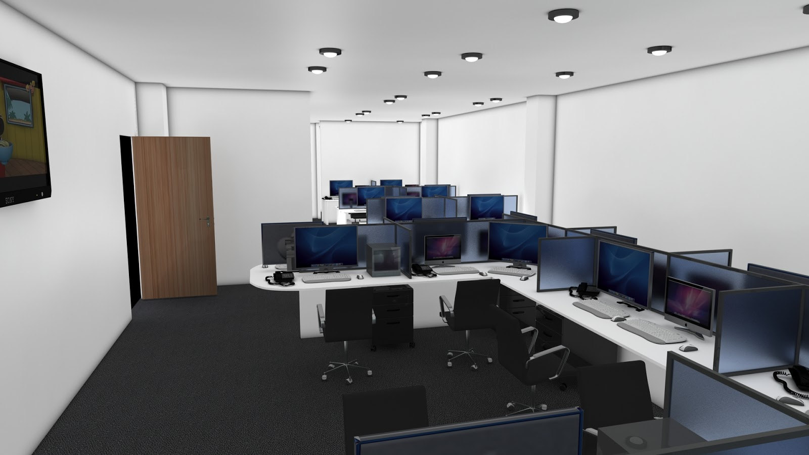 Office interior design 3d max