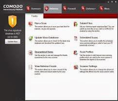 صورة من داخل برنامج Comodo Internet Security