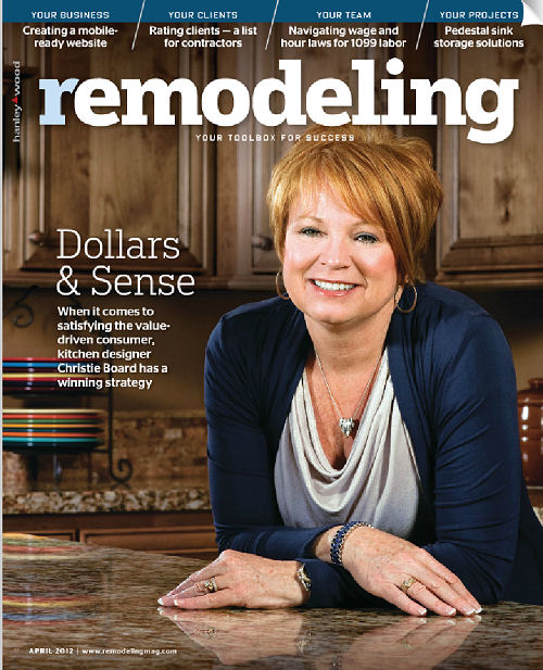 Remodeling Magazine : Remodeling Magazine April 2012 or how I became a Cover Girl!