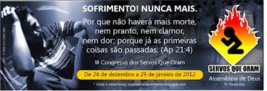 3° CONGRESSO DOS SERVOS QUE ORAM