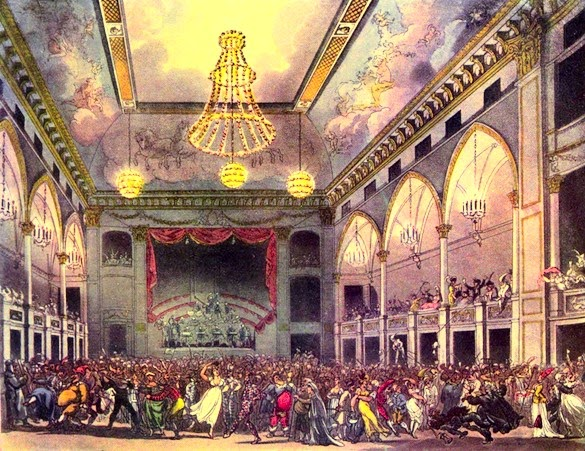A masquerade at the Pantheon from The Microcosm of London (1808-10)