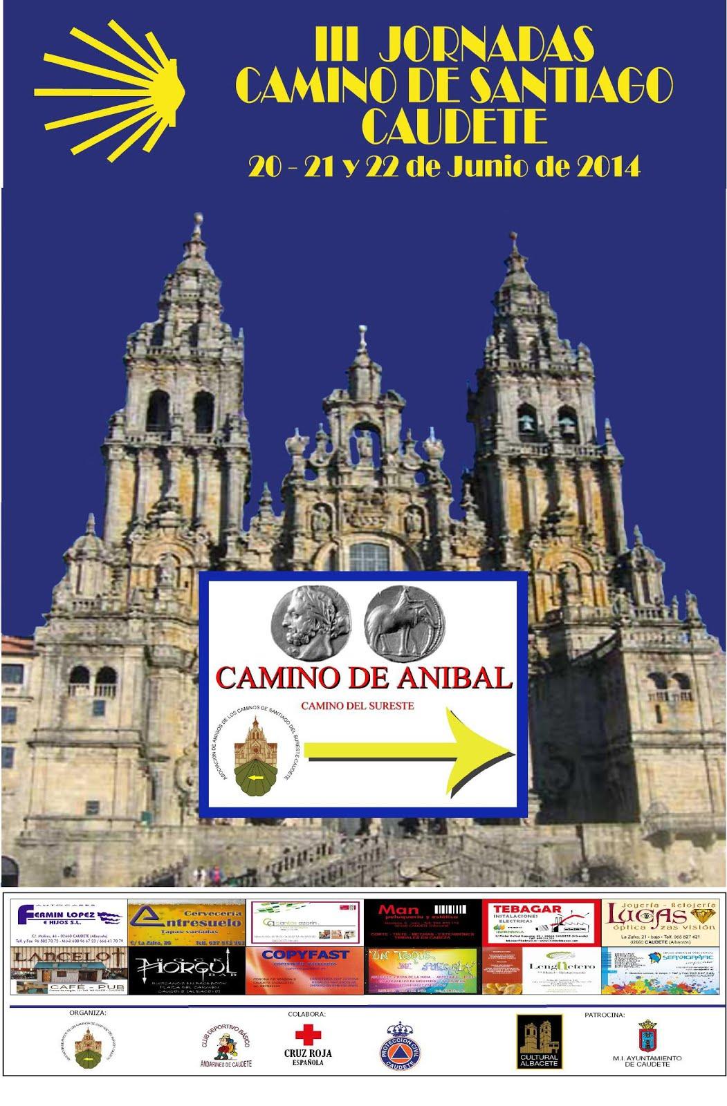 III JORNADAS CAMINO SANTIAGO CAUDETE (20, 21 y 22 de junio de 2.014)
