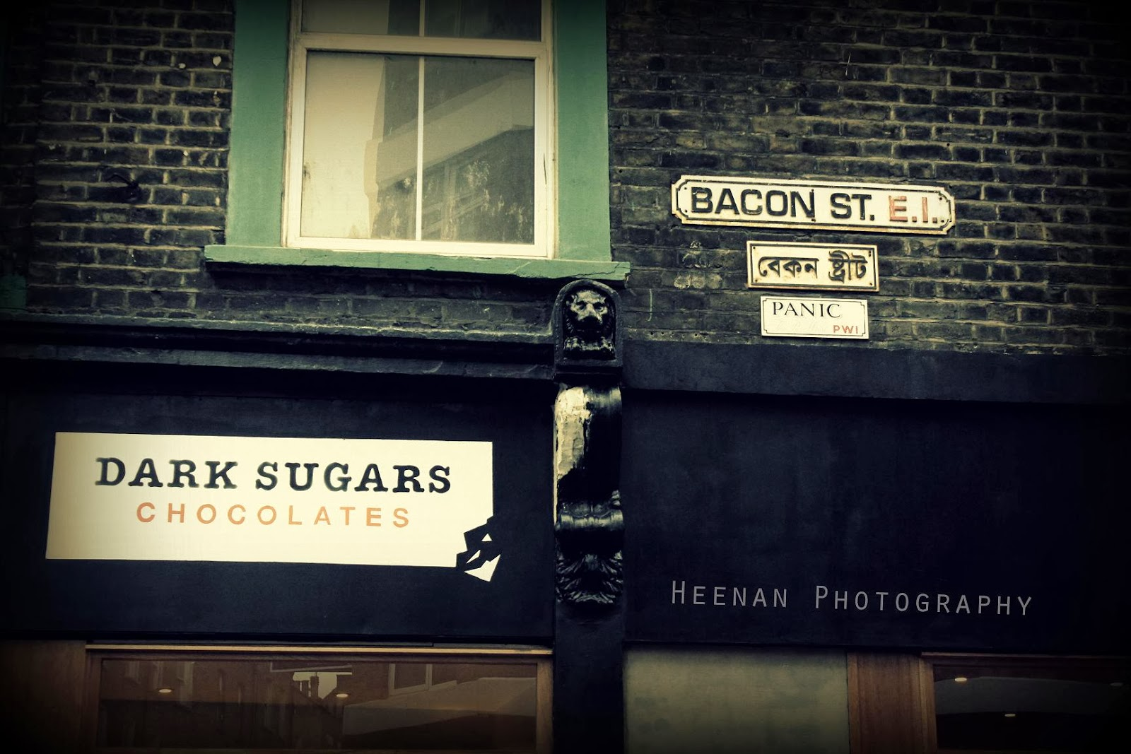 """Bacon and Sugars"", urban photography in Brick Lane by photographer Tom Heenan."