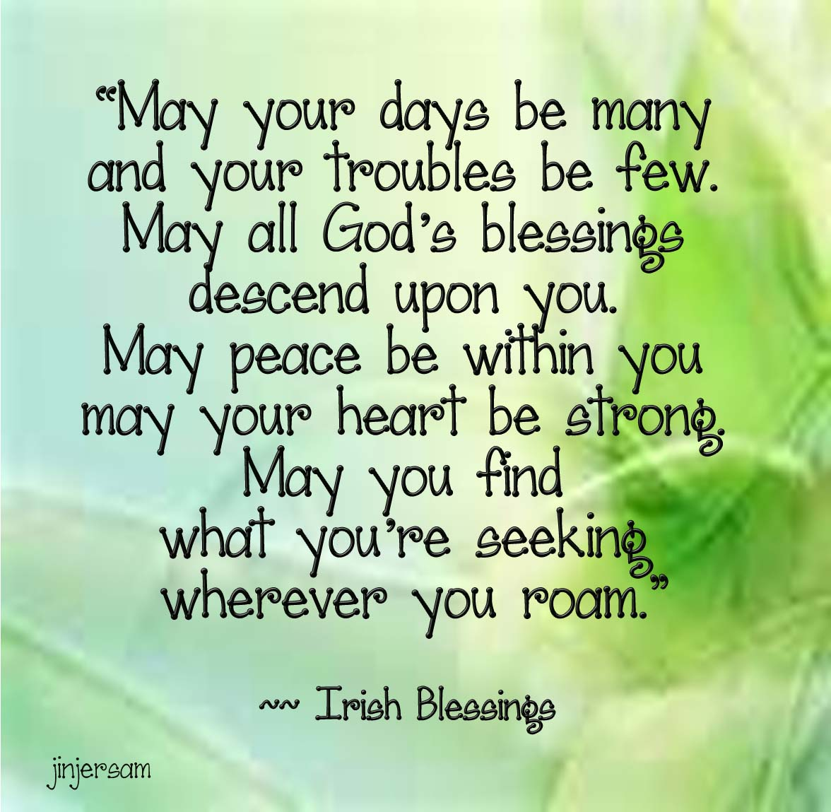 Nubia Group Inspiration Sharing Irish Blessings From The NET
