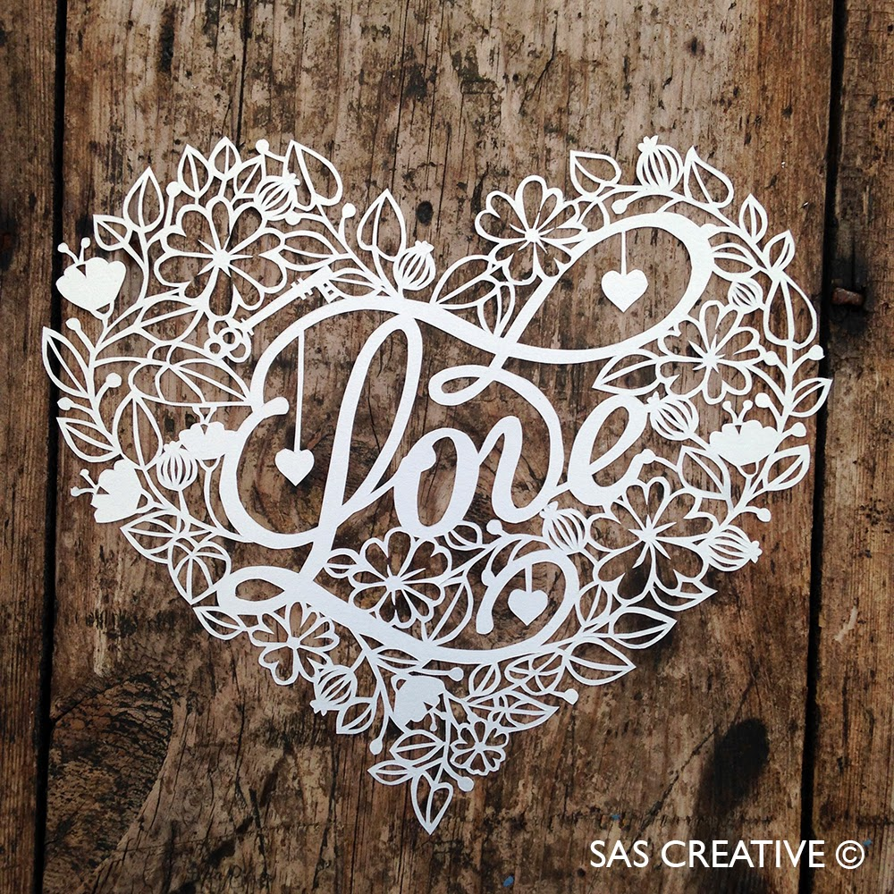 Sas creative love papercutting template for Love the design