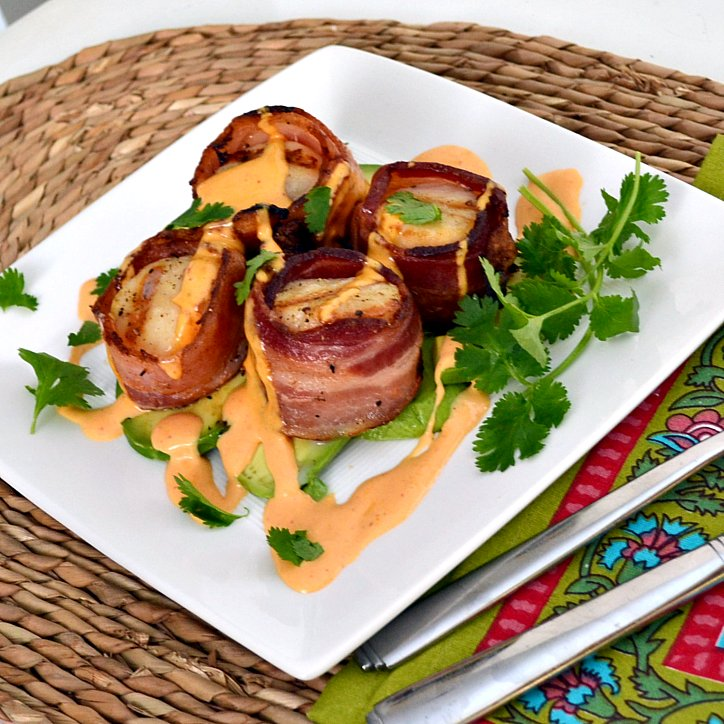 The Foodie Couple: Grilled Bacon Wrapped Scallops with a ...