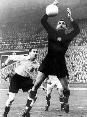 Grosics lors du Match du siècle contre l'Angleterre - source : Futball Anno