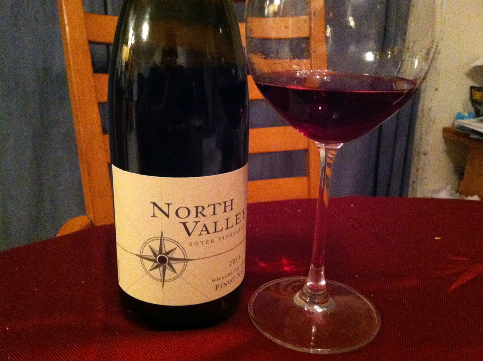 Soter North Valley Pinot Noir makes a nice pairing with salmon. Cooking Chat post. #wine