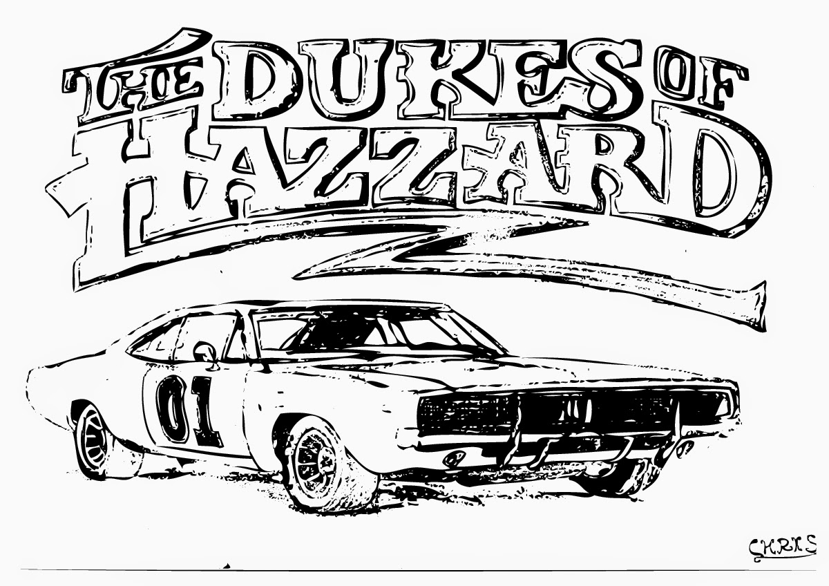 Dukes Of Hazzard Coloring Pages on srt dodge demon