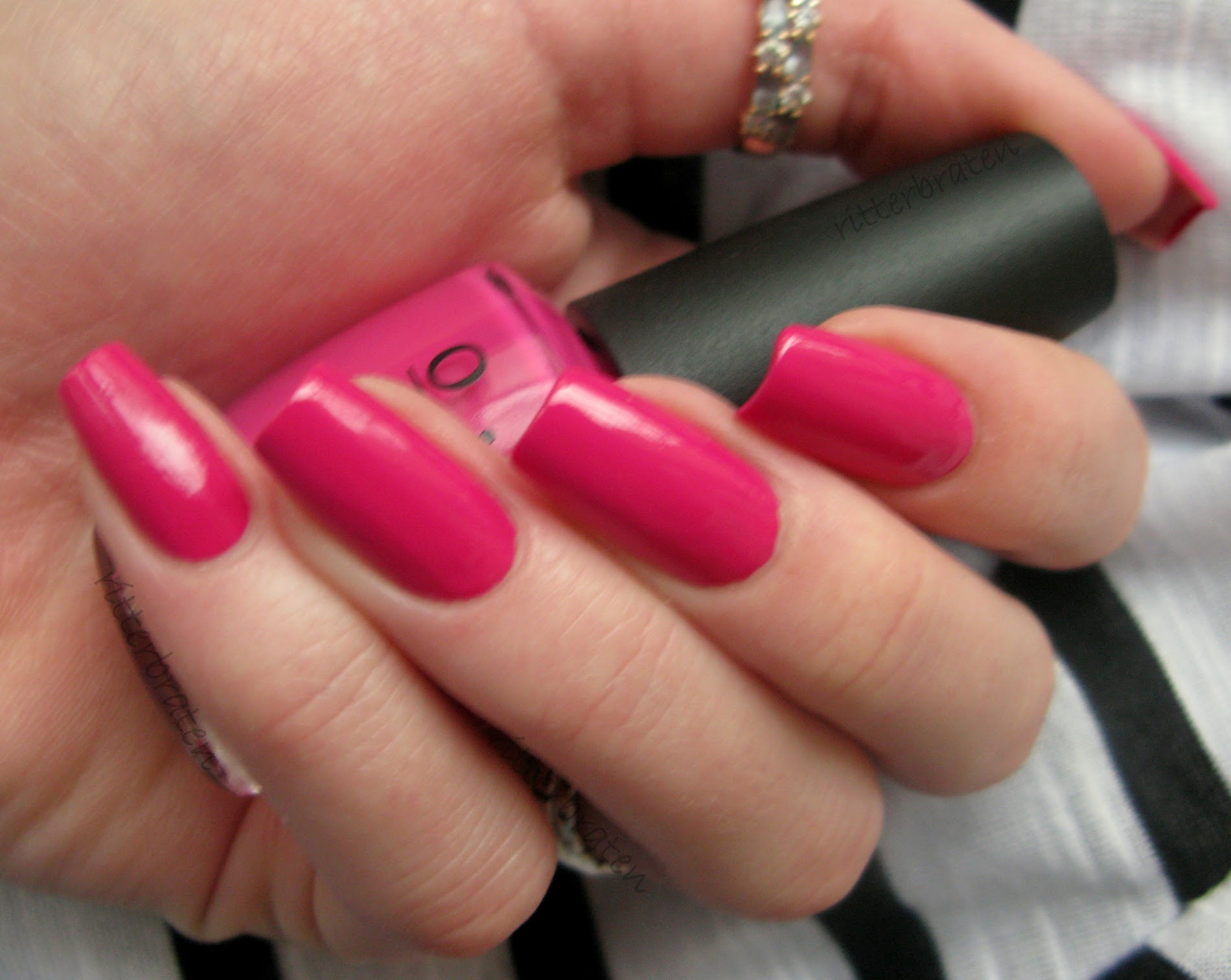 OPI Pink Flamenco nail polish swatch