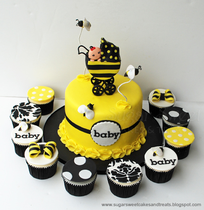 Bumble Bee Baby Cake Topper