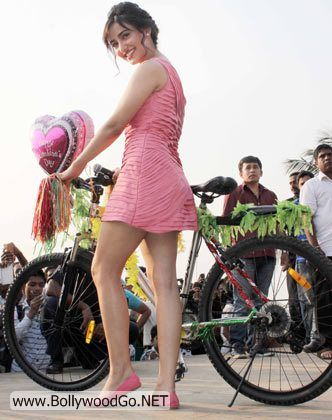 Neha Sharma In Pink With Bicycle Bollywood Lovers