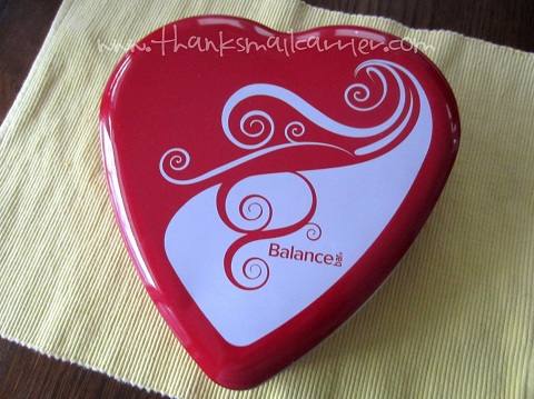 Balance Bar heart tin