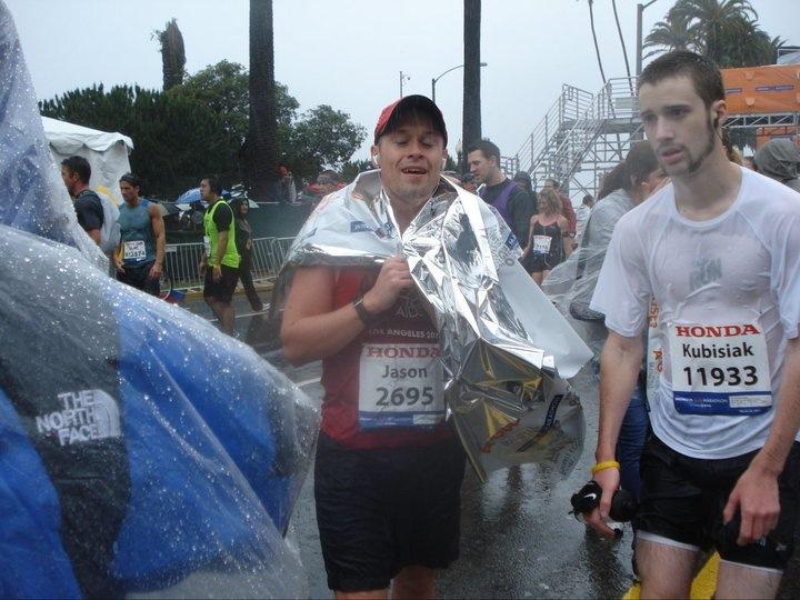 Cold Jason after LA Marathon