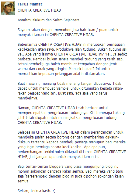Jualan tudung Online Di Melaka