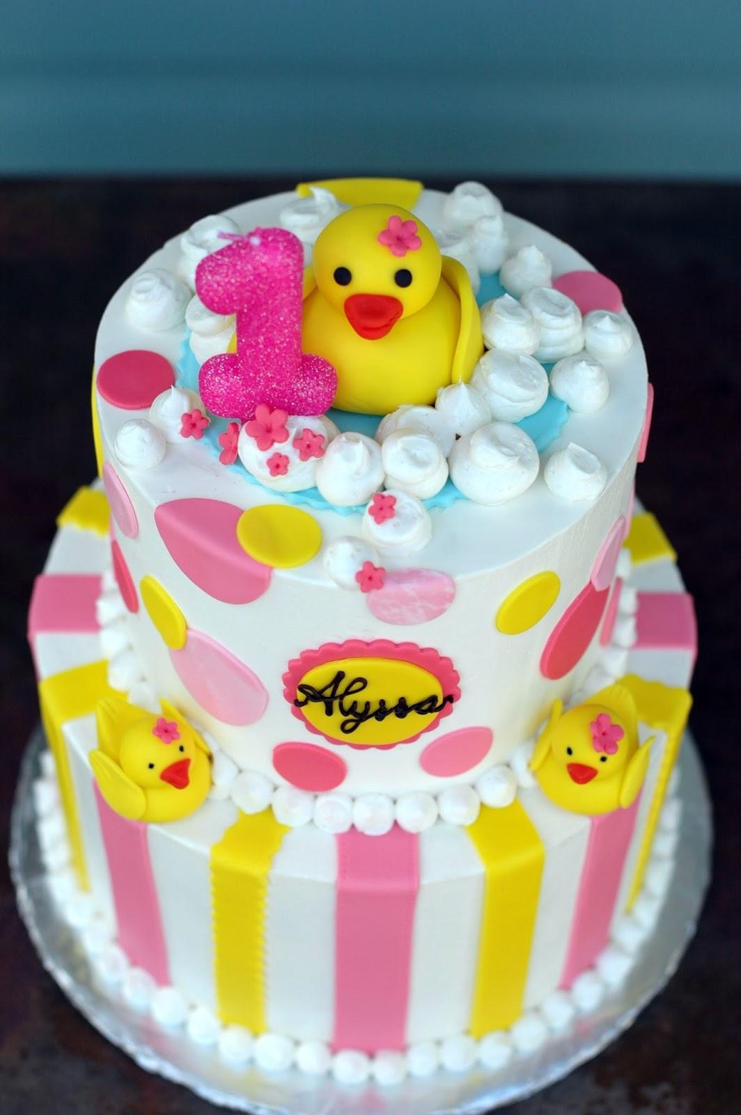 rubber ducky themed birthday cake Bonbini