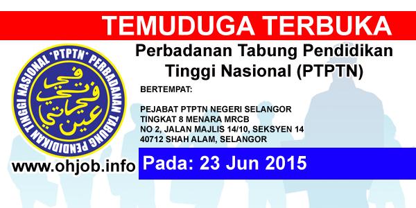 Jawatan Kerja Kosong Perbadanan Tabung Pendidikan Tinggi Nasional (PTPTN) logo www.ohjob.info jun 2015