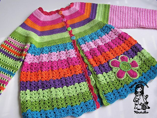 Crochet Flower Cardigan Pattern : Flower cardigan - updated version February 2013 - Magic ...
