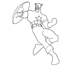 #7 Captain America Coloring Page