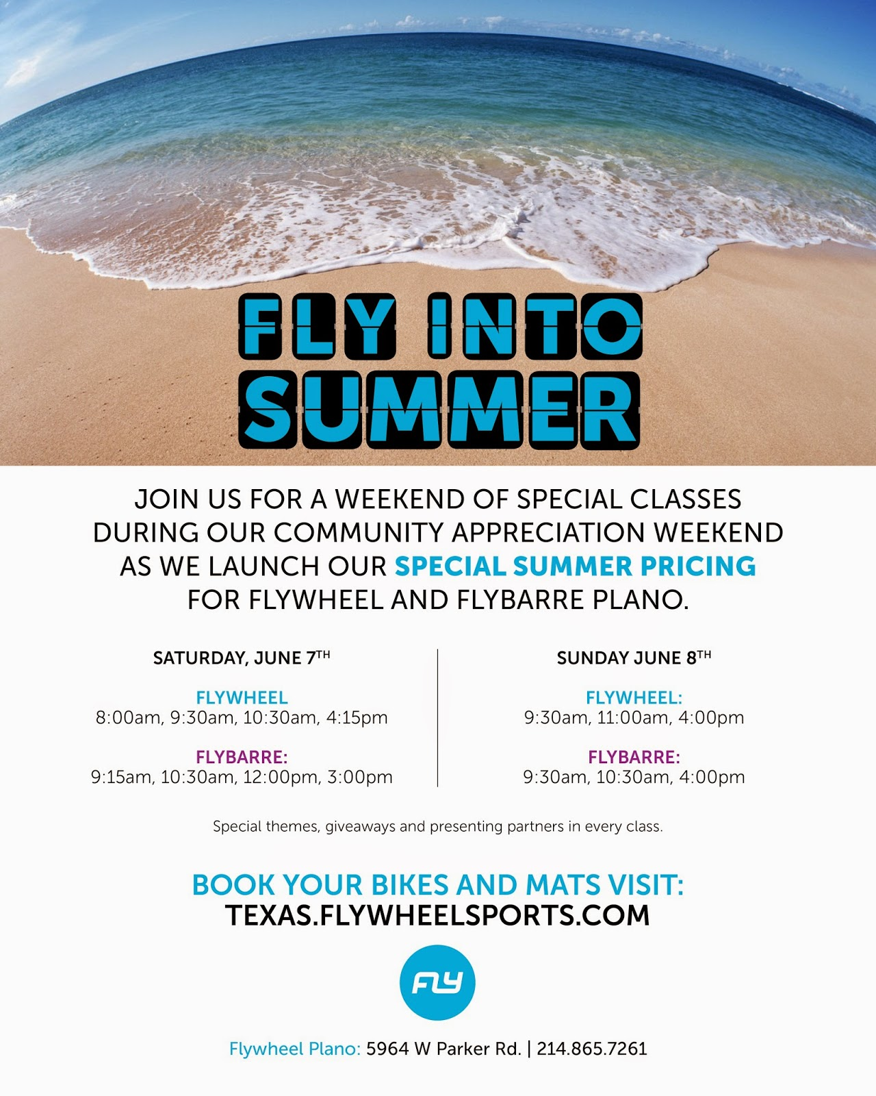 FlyWheel Plano Summer Special Classes