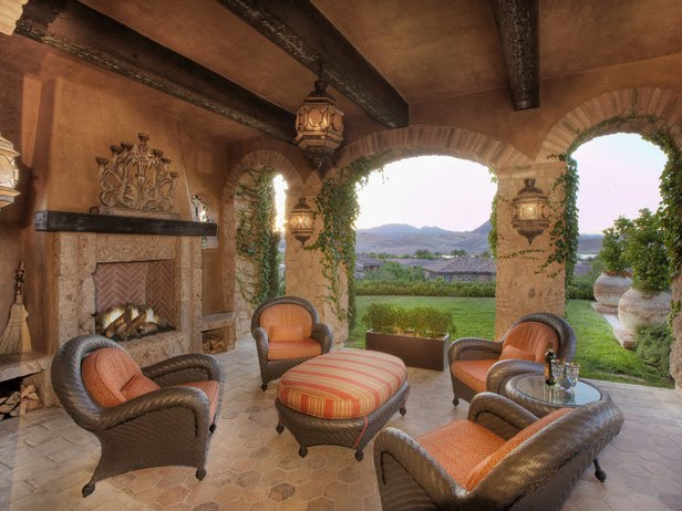 Or Tuscany Style To Me Quite Beautiful And I Love The Fireplace