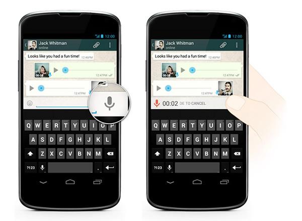 WhatsApp passa a permitir mensagens de voz