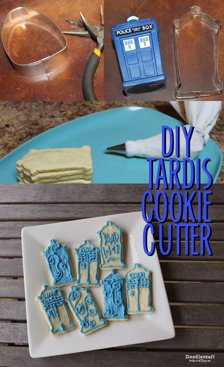 Doodlecraft Tardis Cookie Cutter Diy