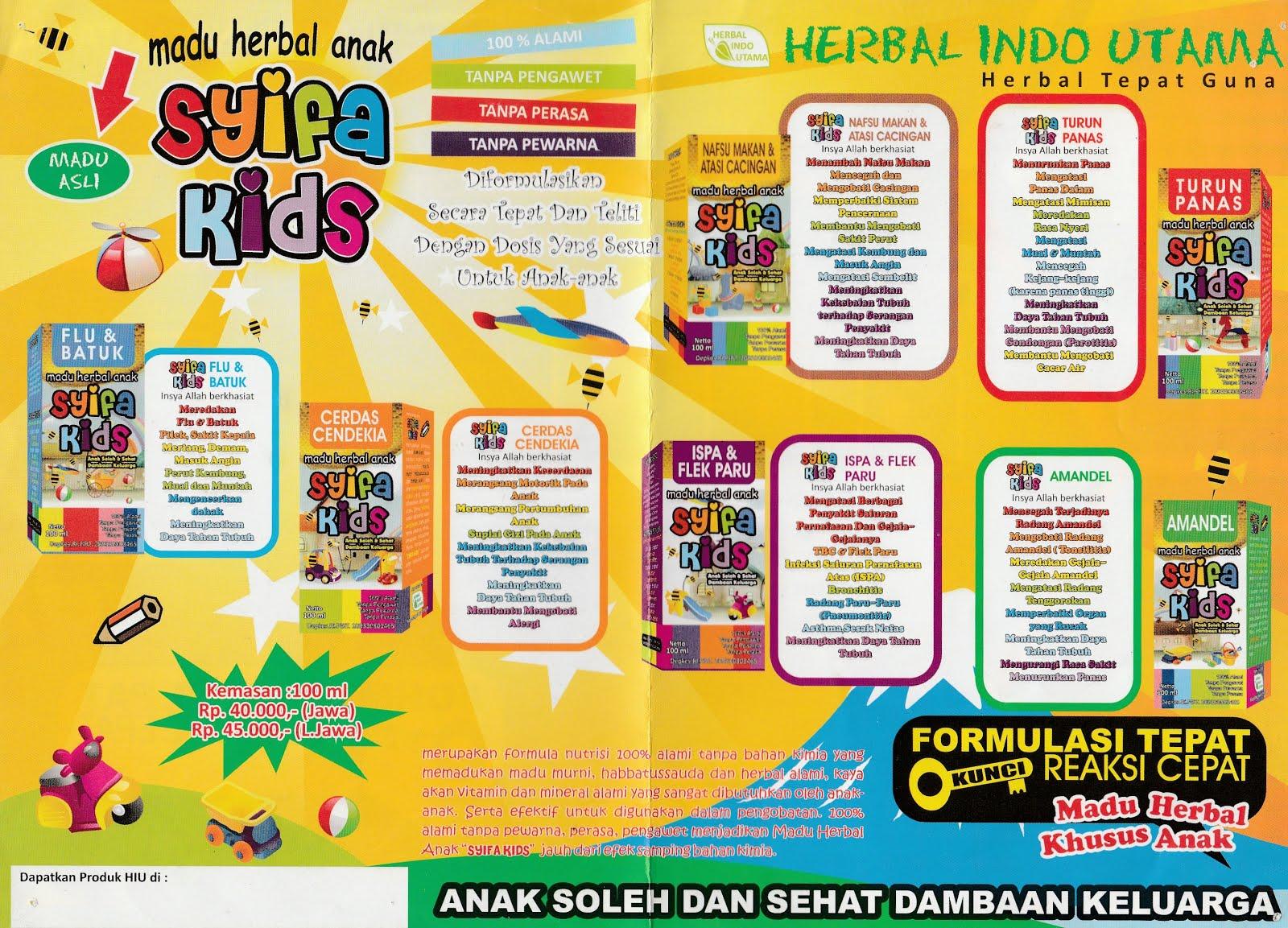 Testimoni Syifa Kids Herbal Pelindung Buah Hati Antariksa Madu Anak Syamil Kid