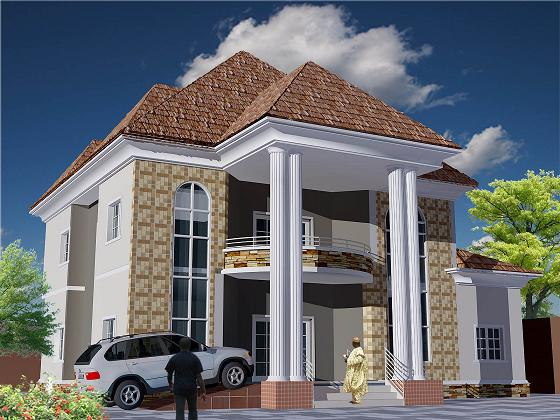 Joe construction company 5 6 bedrooms duplex and 4 for Modern duplex house plans in nigeria
