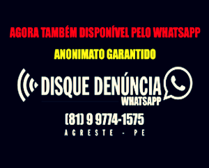 DISQUE DENÚNCIA AGRESTE
