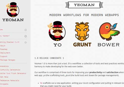 Yeoman ~ 43 Useful and Time Saving Web Development Kits and Frameworks