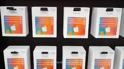 iTunes $100 Multi Pack: 4 $25 gift cards as gifts and stocking stuffers