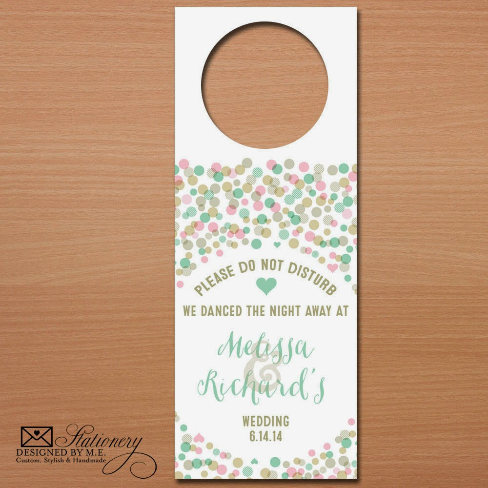 Wedding Door Hangers - they make unique Wedding Favors & Bridal Shower Gifts!