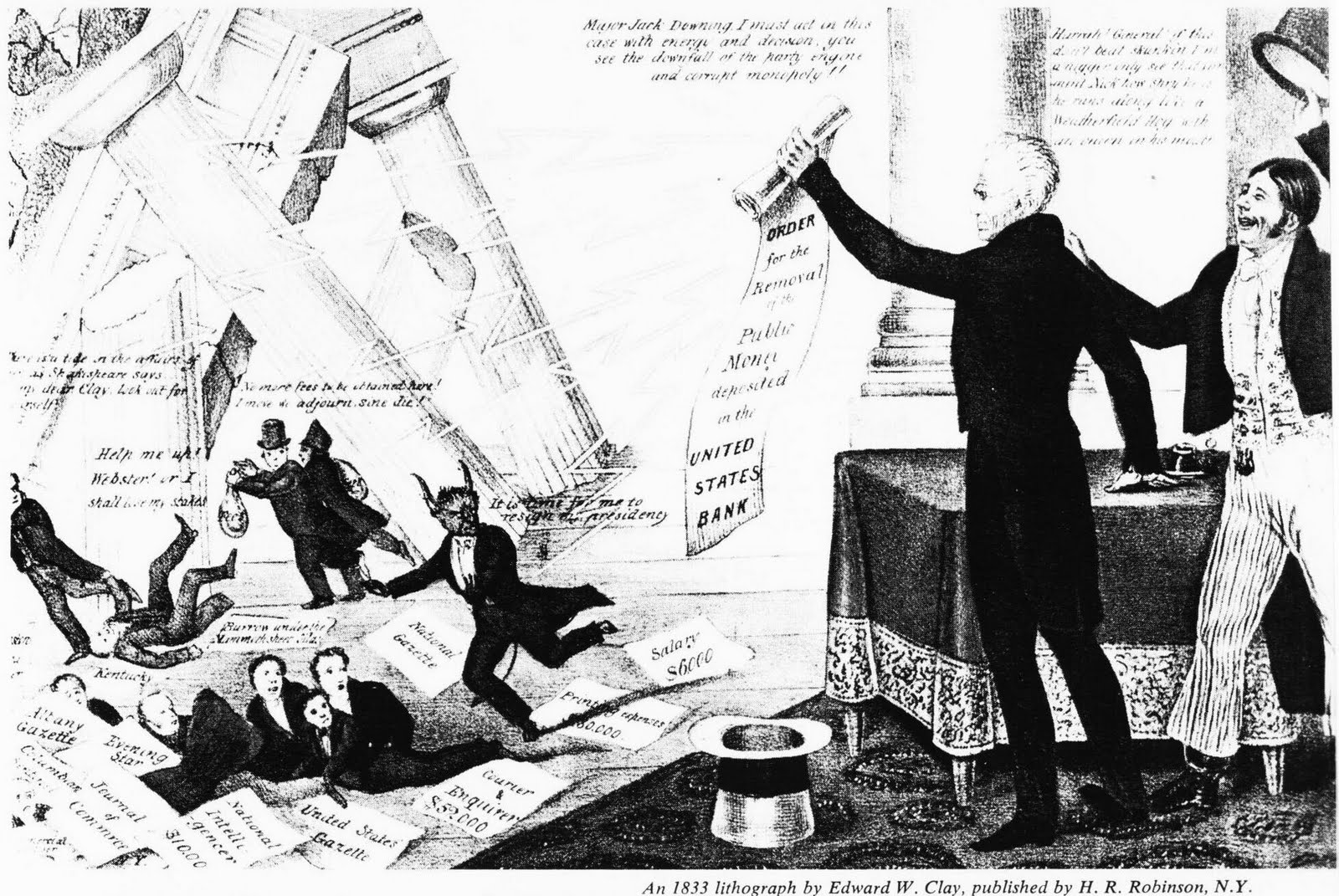 the tyranny of andrew jackson The expanding power of the presidency  blanched at the strong executive leadership of jackson — king andrew i,  when he conceived what a democratic tyranny.