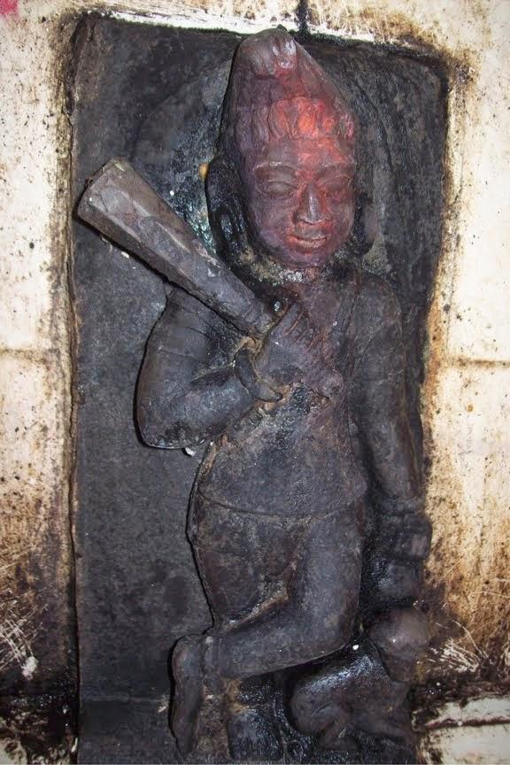 Bhairav statue kameshwar Dham Karon Ballia  U.P.