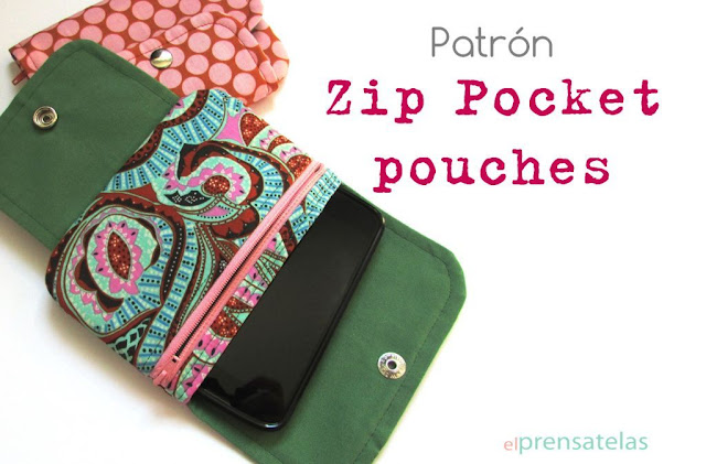 Zip pocket pouches