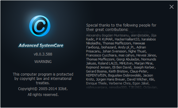 Advanced SystemCare 8.0.3.588 Pro