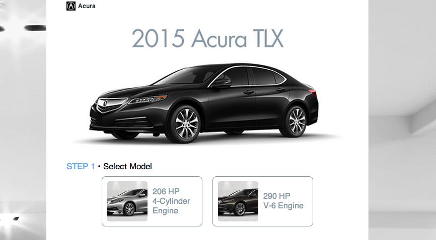 customise your car acura 2015 via twitter