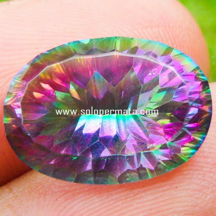 Batu Permata Rainbow Mystic Quartz - Sp069