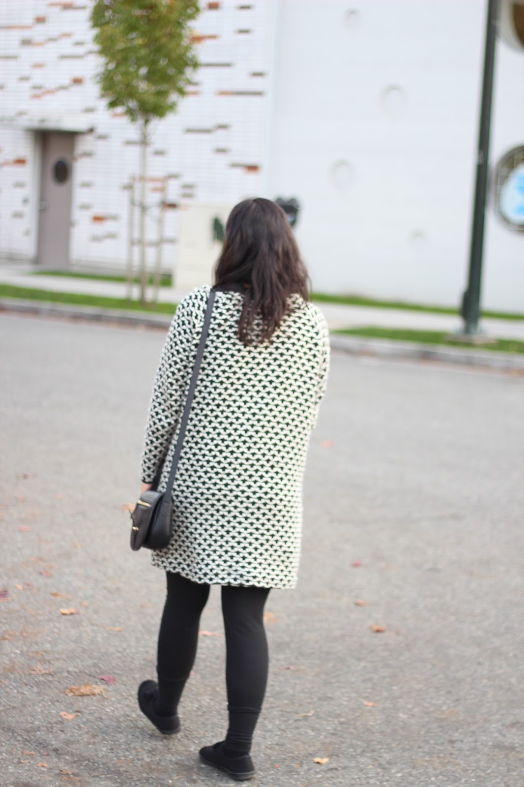 black and white knit cardigan http://www.footnotesandfinds.com