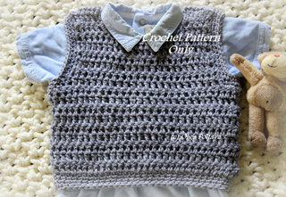 Baby Boy Vest Crochet Pattern, $2.65