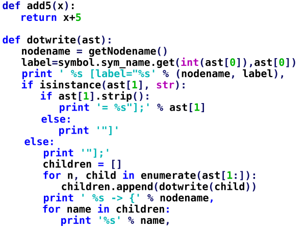 Basit bir kod parçacığı