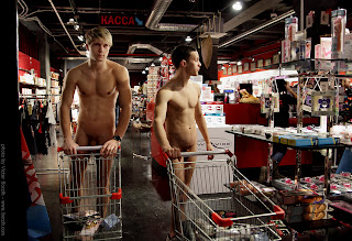 naked russian dudes shopping in a sex supermarket?