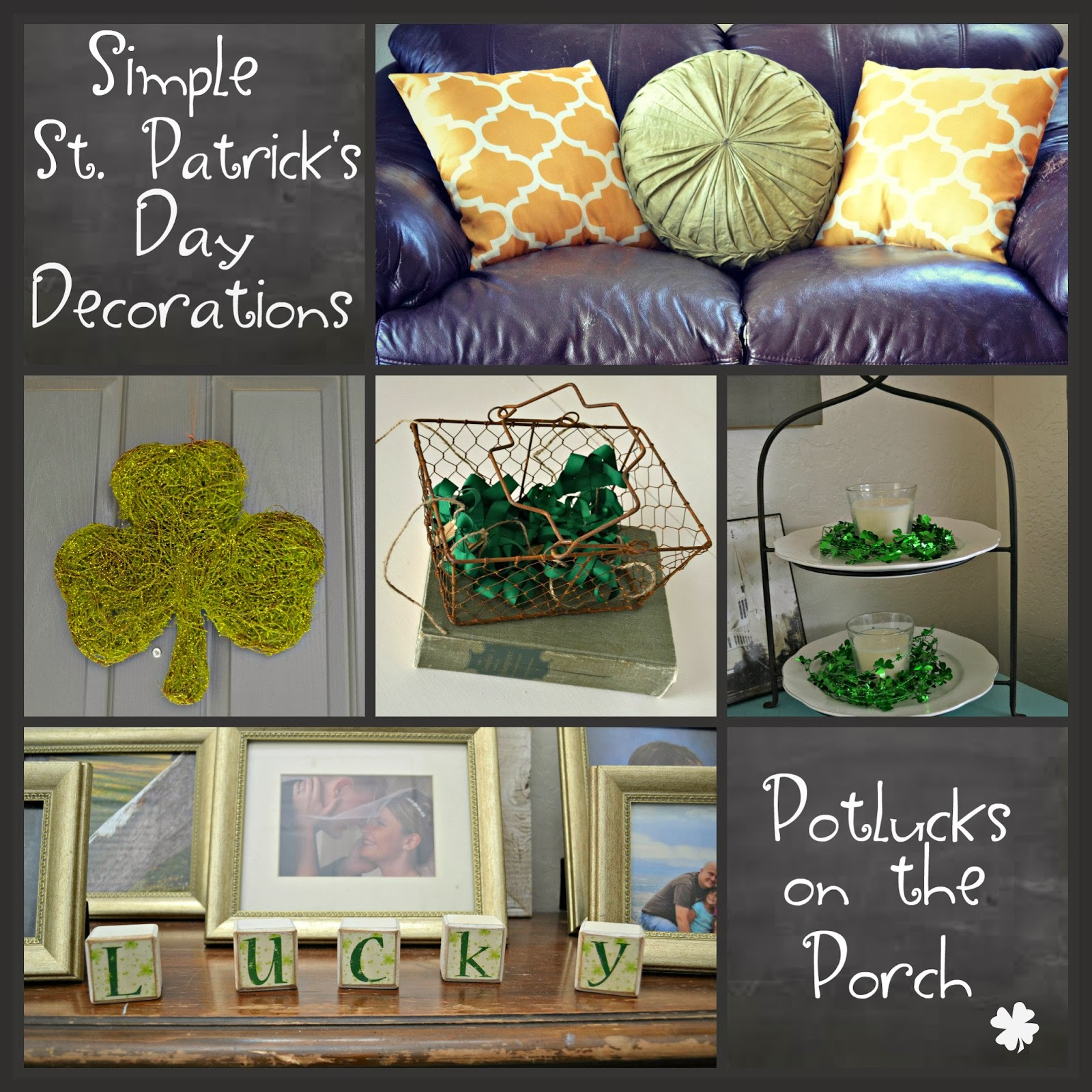 potlucks on the porch simple st patrick 39 s day decorations. Black Bedroom Furniture Sets. Home Design Ideas