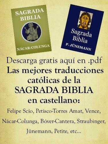Descargar gratis las mejores traducciones de la Biblia al español en .PDF